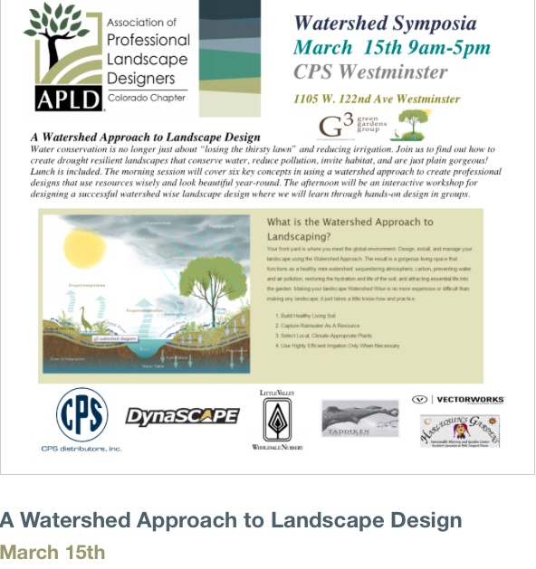 Watershed Approach to Landscape Design - APLD Colorado