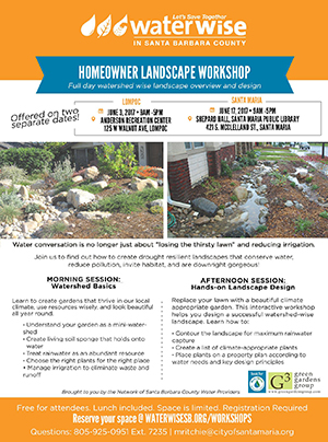 Watershed Approach to Landscape Design - Santa Maria