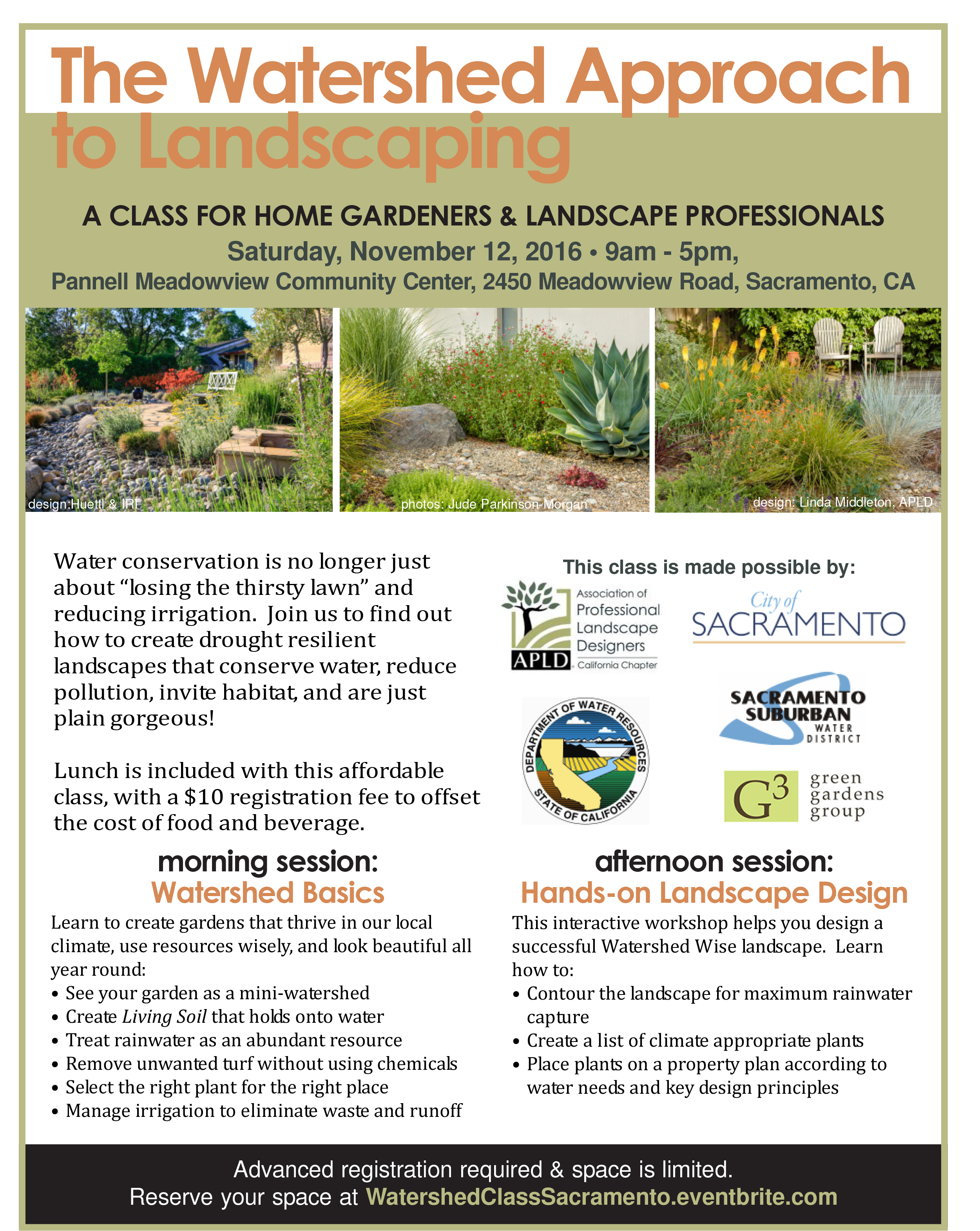 Watershed Approach To Landscape Design   Sacramento