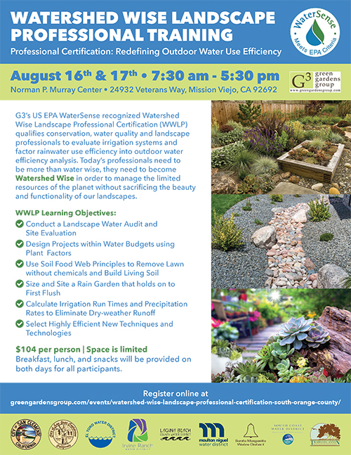 Watershed Wise Landscape Professional Certification-South Orange County